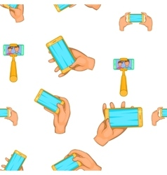 Photo on smartphone pattern cartoon style vector image