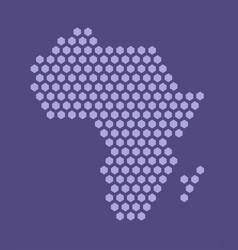 purple hexagonal pixel map africa african vector image