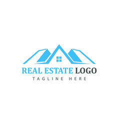 Real estate logotype template construction logo vector