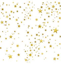 seamless pattern decorative gold stars vector image