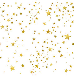 Seamless pattern of decorative gold stars vector