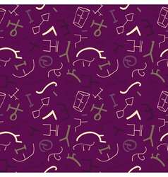 seamless pattern with ancient elements on the vector image