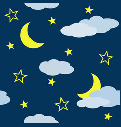 seamless pattern with night scene vector image vector image