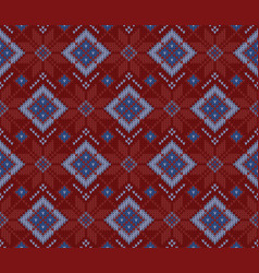 Seamless woolen knitted scandinavian sweater vector