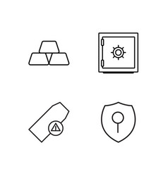 security outline icons set vector image