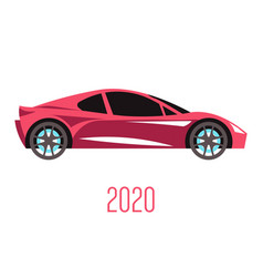 sedan car model 2020 side view and automobile vector image