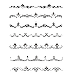 Set calligraphic design elements and page decor vector