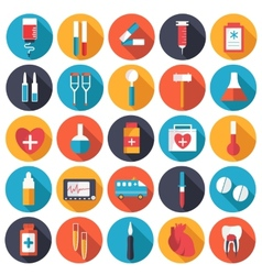set flat human organs icons concept backgro vector image