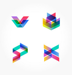 set of minimal geometric shapes trendy hipster vector image