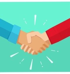 shaking hands agreement deal vector image