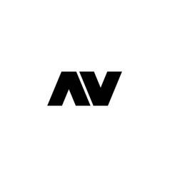 simple and modern initial av logo vector image