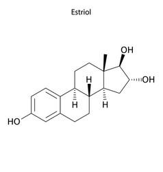 Skeletal formula molecule vector