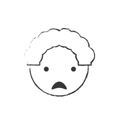 Sketch father man sad image vector