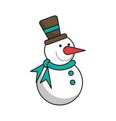 Snowman of Christmas season design vector image