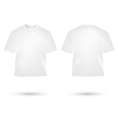 T shirt white vector