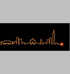 Taipei light streak skyline vector
