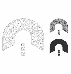 Tunnel mesh 2d model and triangle mosaic vector