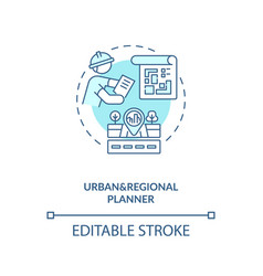 Urban and regional planner turquoise concept icon vector