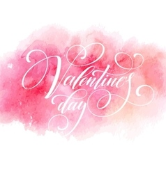 Valentines Day Card with lettering in pink vector