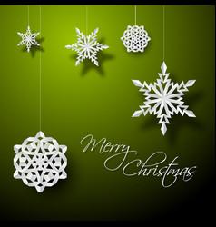 White paper christmas snowflakes vector
