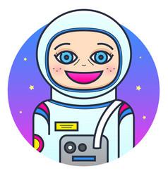 woman astronaut vector image