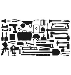 work tools icons gardening repair fixing items vector image