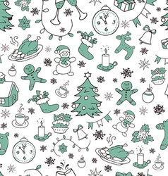 Year seamless doodle background vector