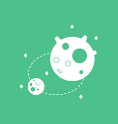 Icon satellite and orbit vector