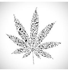 Musical cannabis vector image