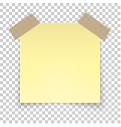 realistic sticky tape on transparent background vector image