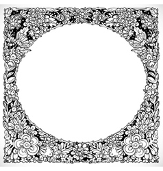 Round decorative frame from imaginary doodle vector image vector image