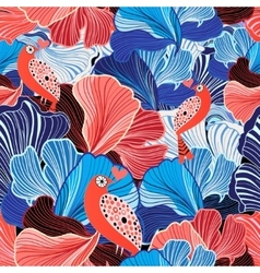 abstract pattern and bird lovers vector image vector image
