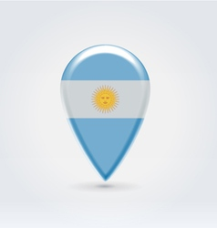 Argentinian icon point for map vector image vector image