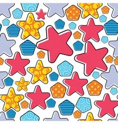 colorful decorative stars vector image