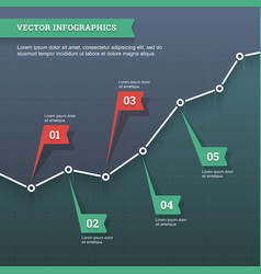 Line chart infographic vector image