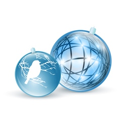 new year and christmas ball toys vector image