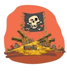 Pirate treasure vector image