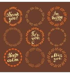 Set of wreaths vector image