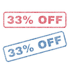 33 percent off textile stamps vector image vector image