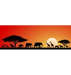 Animals savannah vector image
