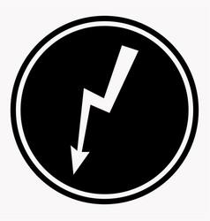 danger high voltage warning sign electric hazard vector image vector image
