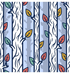 Seamless patterns with trees vector image