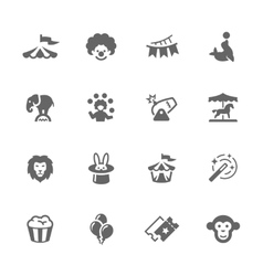 Simple Circus Icons vector image