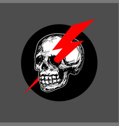 skull logo icon vector image