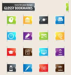 university bookmark icons vector image
