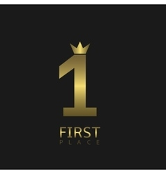 First place symbol vector image