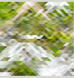 green brown and white abstract geometry pattern vector image vector image