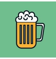 icon beer cold drink design vector image