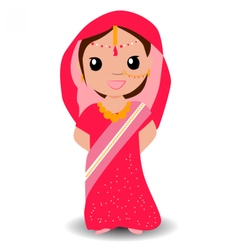 Indian girl vector