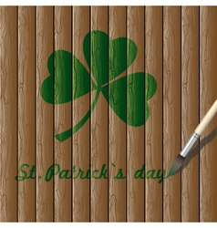 leaf of clover vector image vector image
